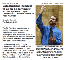 The New Archbishop Harry J. Flynn Catechetical  Institute! Jeff and Emily Cavins Holy Land Pilgrimages and Media
