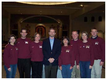 St. Michael's Core Team in St. Michael, MN Jeff and Emily Cavins Holy Land Pilgrimages and Media
